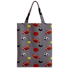 Balltiled Grey Ball Tennis Football Basketball Billiards Classic Tote Bag