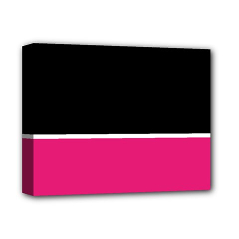 Black Pink Line White Deluxe Canvas 14  x 11