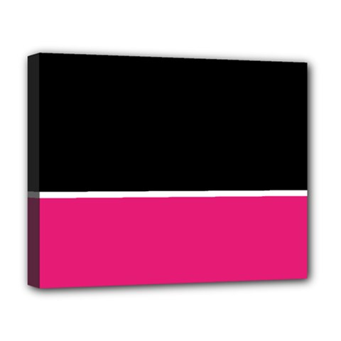 Black Pink Line White Deluxe Canvas 20  x 16