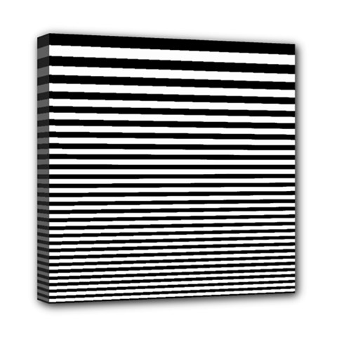 Black White Line Mini Canvas 8  x 8