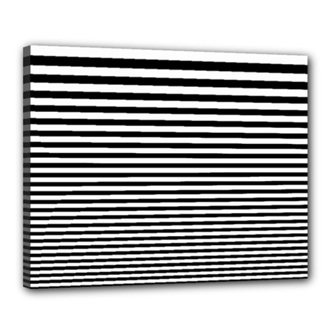 Black White Line Canvas 20  x 16
