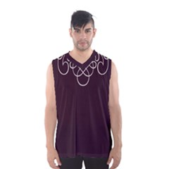 Black Cherry Scrolls Purple Men s Basketball Tank Top