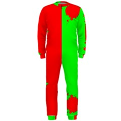 Critical Points Line Circle Red Green OnePiece Jumpsuit (Men)