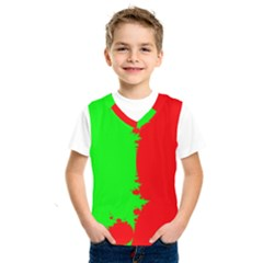 Critical Points Line Circle Red Green Kids  Sportswear