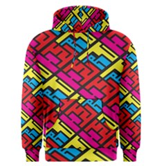 Color Red Yellow Blue Graffiti Men s Pullover Hoodie
