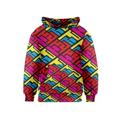 Color Red Yellow Blue Graffiti Kids  Pullover Hoodie