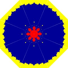 Critical Points Line Circle Red Blue Yellow Straight Umbrellas