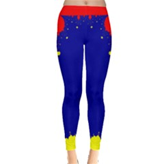 Critical Points Line Circle Red Blue Yellow Leggings