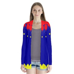 Critical Points Line Circle Red Blue Yellow Cardigans