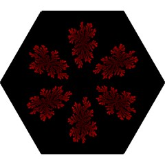 Dendron Diffusion Aggregation Flower Floral Leaf Red Black Mini Folding Umbrellas