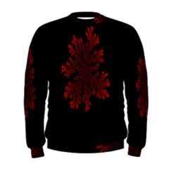 Dendron Diffusion Aggregation Flower Floral Leaf Red Black Men s Sweatshirt