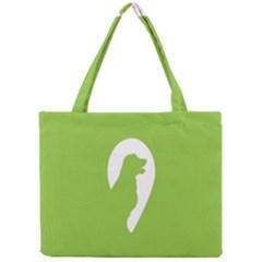 Dog Green White Animals Mini Tote Bag