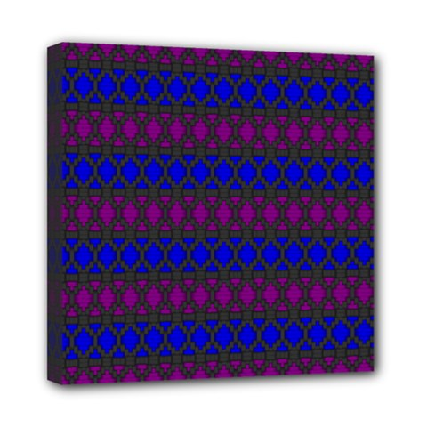 Diamond Alt Blue Purple Woven Fabric Mini Canvas 8  x 8