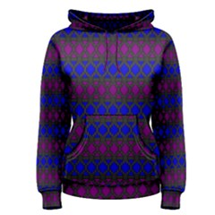 Diamond Alt Blue Purple Woven Fabric Women s Pullover Hoodie