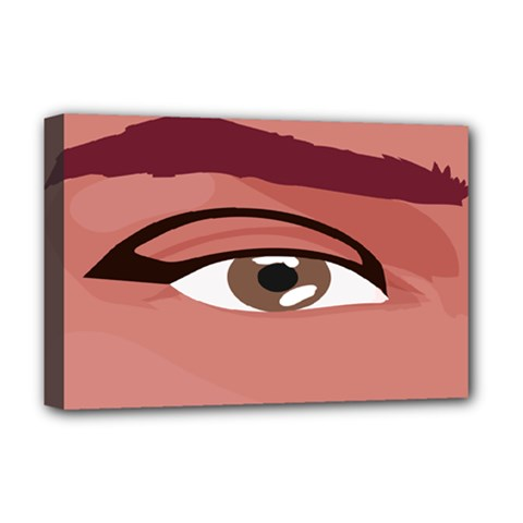 Eye Difficulty Red Deluxe Canvas 18  x 12