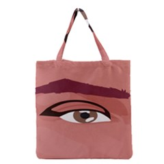 Eye Difficulty Red Grocery Tote Bag
