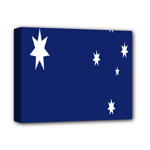 Flag Star Blue Green Yellow Deluxe Canvas 14  x 11