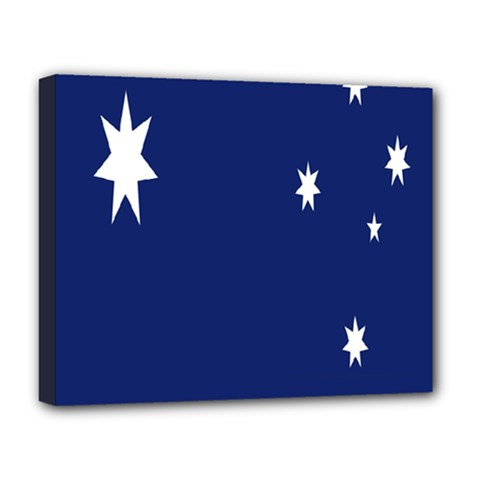 Flag Star Blue Green Yellow Deluxe Canvas 20  x 16