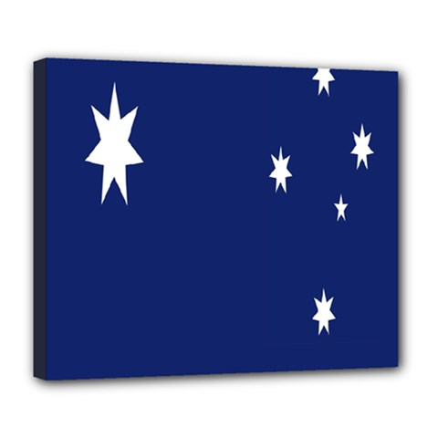 Flag Star Blue Green Yellow Deluxe Canvas 24  x 20