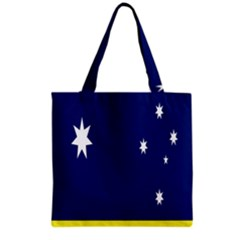 Flag Star Blue Green Yellow Grocery Tote Bag
