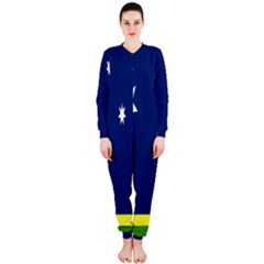Flag Star Blue Green Yellow OnePiece Jumpsuit (Ladies)