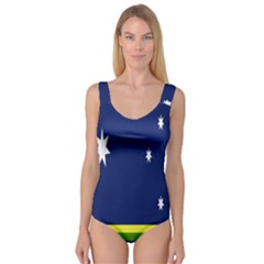 Flag Star Blue Green Yellow Princess Tank Leotard