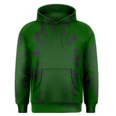 Dendron Diffusion Aggregation Flower Floral Leaf Green Purple Men s Pullover Hoodie