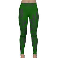 Dendron Diffusion Aggregation Flower Floral Leaf Green Purple Classic Yoga Leggings