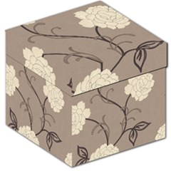 Flower Floral Black Grey Rose Storage Stool 12