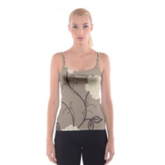 Flower Floral Black Grey Rose Spaghetti Strap Top