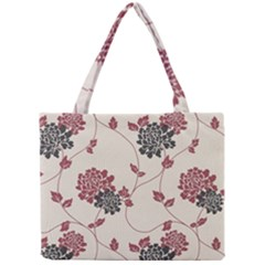 Flower Floral Black Pink Mini Tote Bag