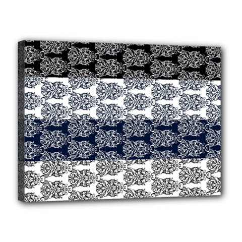 Digital Print Scrapbook Flower Leaf Colorgray Black Purple Blue Canvas 16  x 12