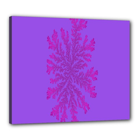 Dendron Diffusion Aggregation Flower Floral Leaf Red Purple Canvas 24  x 20