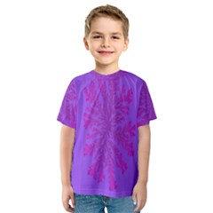 Dendron Diffusion Aggregation Flower Floral Leaf Red Purple Kids  Sport Mesh Tee