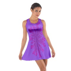 Dendron Diffusion Aggregation Flower Floral Leaf Red Purple Cotton Racerback Dress
