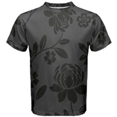 Flower Floral Rose Black Men s Cotton Tee