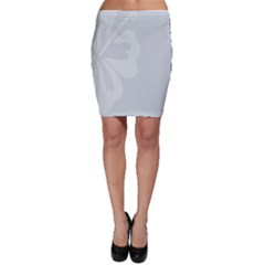 Hibiscus Sakura Glacier Gray Bodycon Skirt