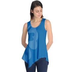 Hibiscus Sakura Classic Blue Sleeveless Tunic