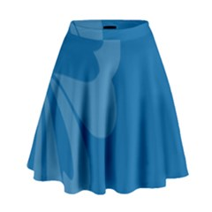 Hibiscus Sakura Classic Blue High Waist Skirt