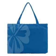 Hibiscus Sakura Classic Blue Medium Tote Bag