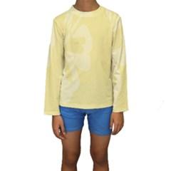 Hibiscus Custard Yellow Kids  Long Sleeve Swimwear