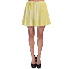 Hibiscus Custard Yellow Skater Skirt