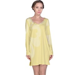 Hibiscus Custard Yellow Long Sleeve Nightdress