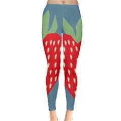Fruit Red Strawberry Leggings