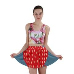 Fruit Red Strawberry Mini Skirt