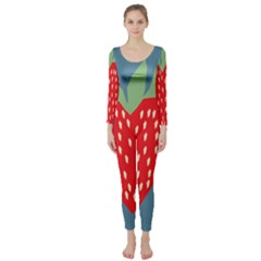 Fruit Red Strawberry Long Sleeve Catsuit