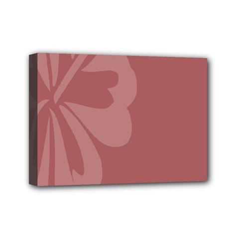 Hibiscus Sakura Red Mini Canvas 7  x 5