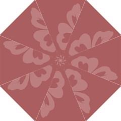 Hibiscus Sakura Red Hook Handle Umbrellas (Medium)