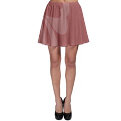 Hibiscus Sakura Red Skater Skirt