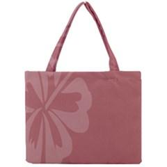 Hibiscus Sakura Red Mini Tote Bag